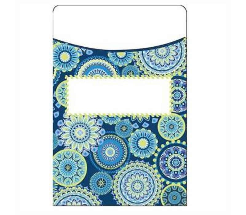 Blue Harmony Library Pockets- Mandala (D) *