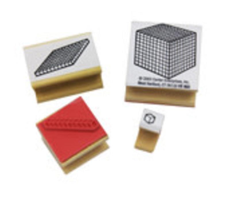 Base 10 Blocks - Set of 4 Stamps *