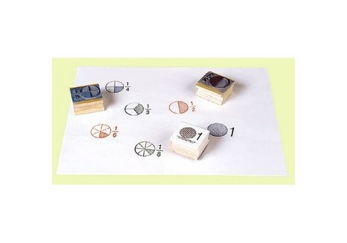 CENTER ENTERPRISES Fraction Stamps Set *