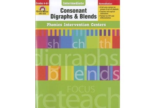 Evan Moor Consonant Digraphs & Blends Phonics Intervention Centers *