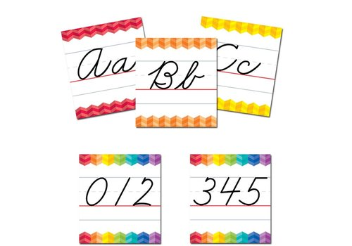 Creative Teaching Press Painted Palette Cursive Handwriting Alphabet Bulletin Board * (D)