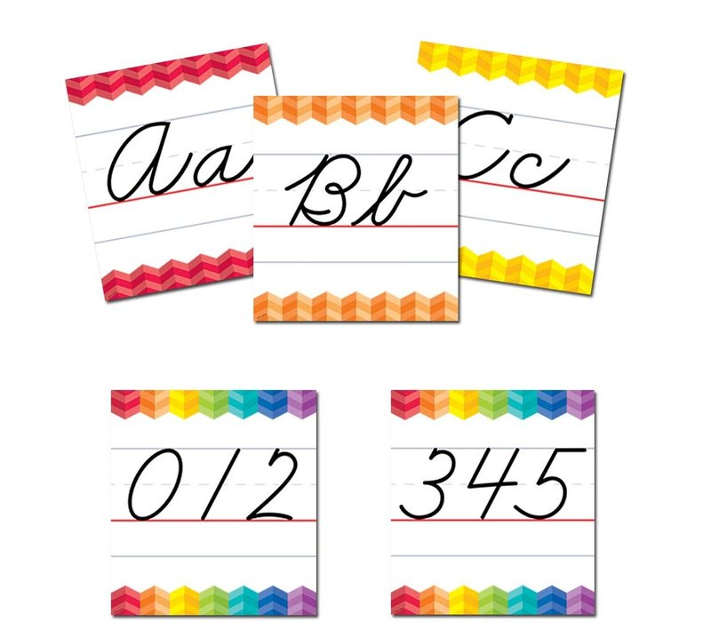 Painted Palette Cursive Handwriting Alphabet Bulletin Board * (D)