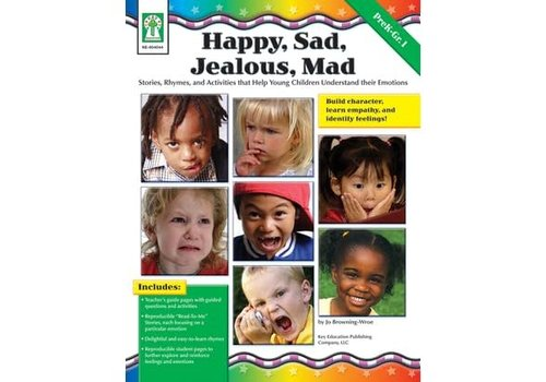 Carson Dellosa Happy, Sad, Jealous, Mad Book *