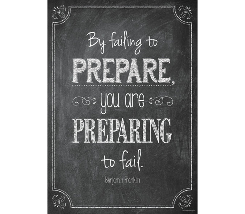 By failing to prepare... Inspire U Poster*