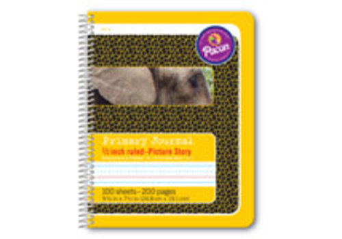 """PACON Primary Journal, Half Rule 1/2"""" YELLOW, coil bound *"""