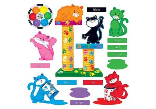 Trend Enterprises Curious Color Cats Bulletin Board Set*