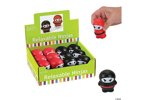 fun express Relaxable Ninjas - Stress Reliever Learning Tool *