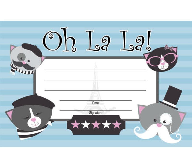 Oh La La! French Certificate *