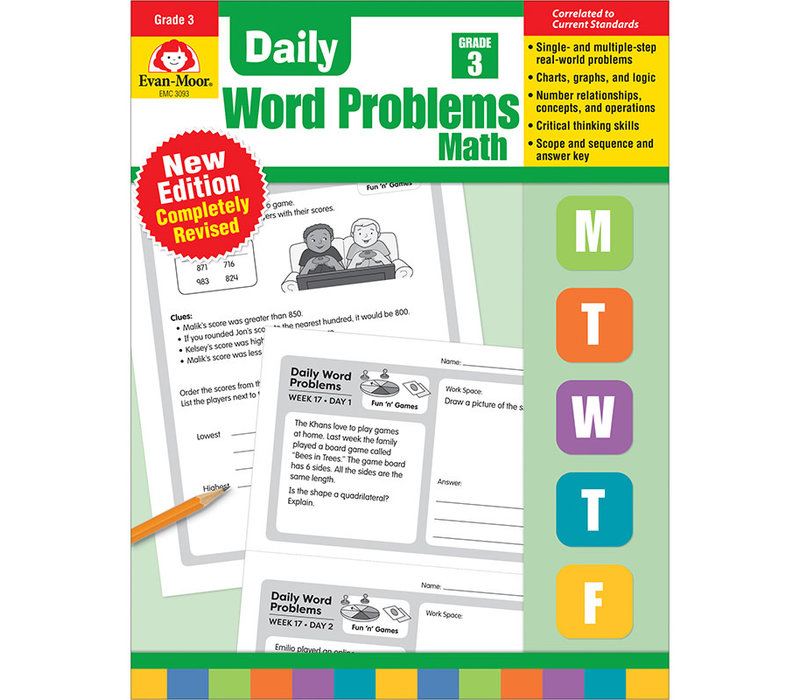DAILY WORD PROBLEMS GRADE 3 - Revised *