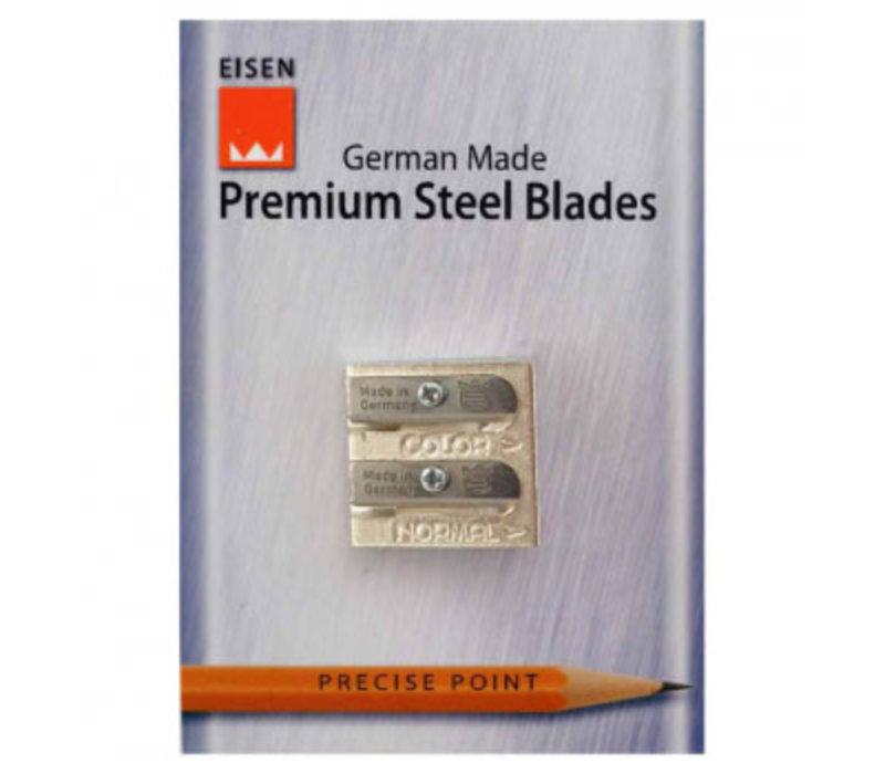 Premium Steel Blades Pencil Sharpener - 2 holes (for colour and standard pencils)