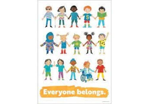 Carson Dellosa Everyone Belongs Poster *