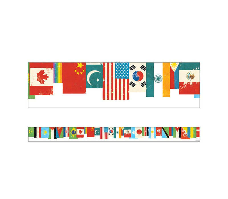 All Are Welcome Flags Straight Borders*