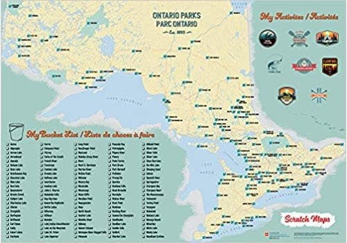 Scratch Maps - Ontario Parks *