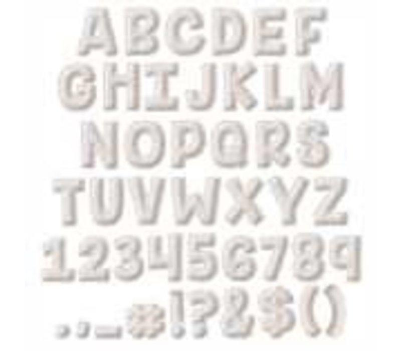 A Close-Knit Class Cream Felt Deco Letters *