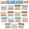 EUREKA A Close-Knit Class  Class Jobs Mini Bulletin Board Set *
