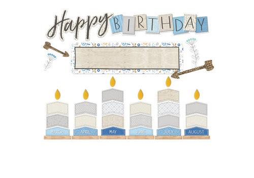 EUREKA A Close-Knit Class Birthday Mini Bulletin Set *