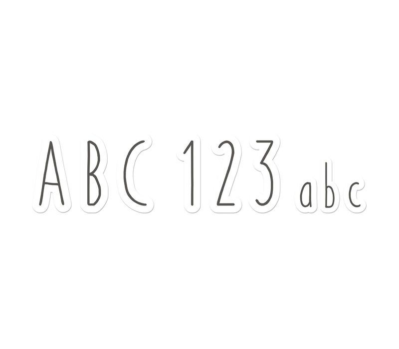 A Close-Knit Class Simple Print  Deco Letters *