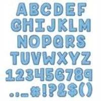 A Close-Knit Class Blue Felt  Deco Letters *