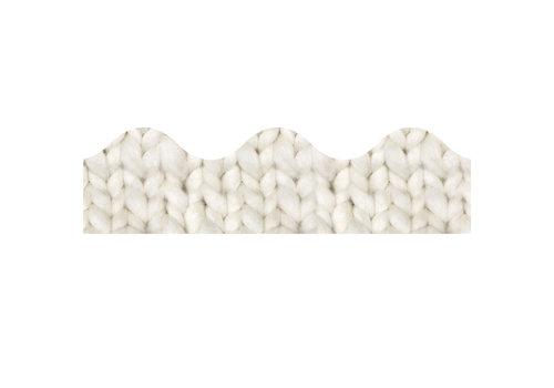 EUREKA A Close Knit Class Cozy Cream Knit Deco Trim *