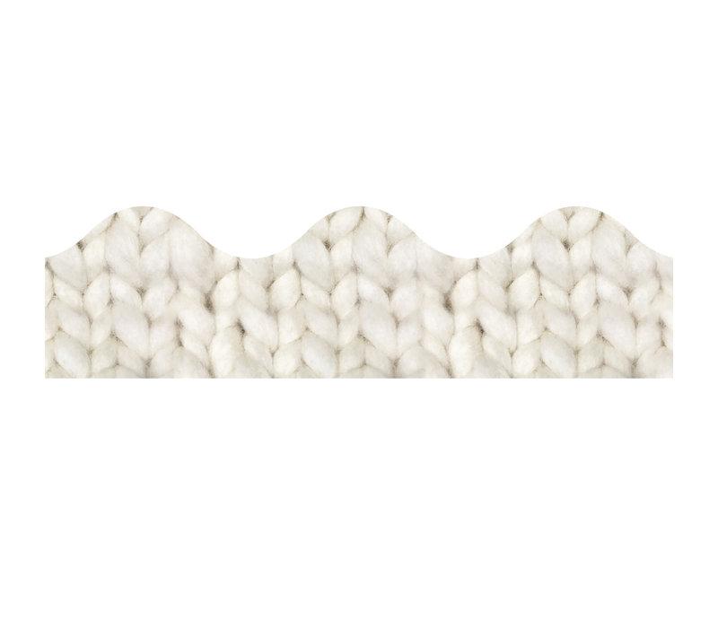 A Close Knit Class Cozy Cream Knit Deco Trim *