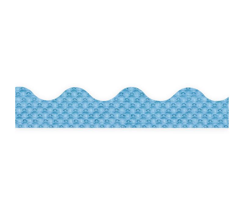 A Close Knit Class Blue Pointelle Deco Trim *