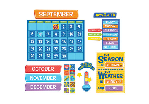 EUREKA A Teachable Town Calendar Bulletin Board Set *