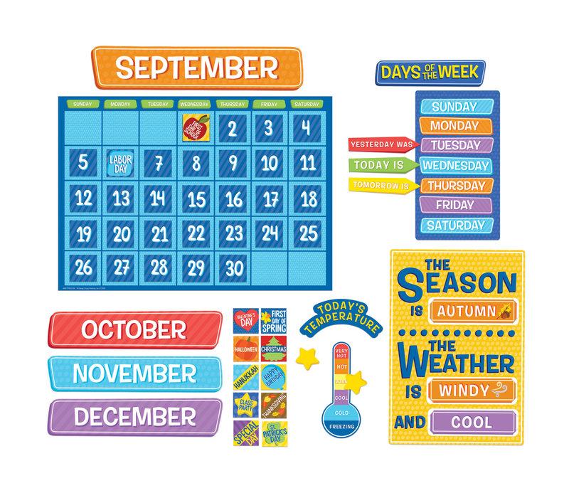 A Teachable Town Calendar Bulletin Board Set *