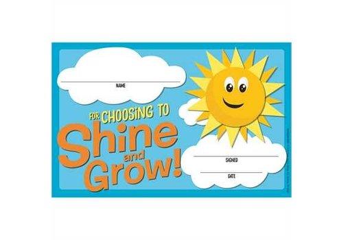 EUREKA A Teachable Town Choosing to Shine & Grow Recognition Award *