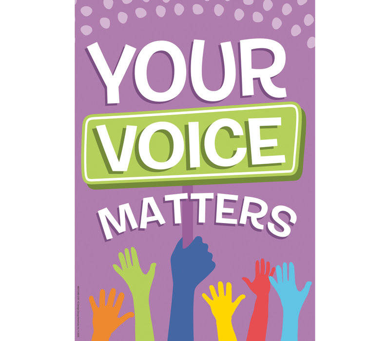 A Teachable Town Your Voice Matters Poster *