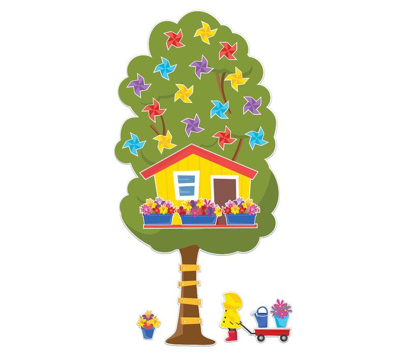 A Teachable Town Large Seasonal Tree House Bulletin Board Set *
