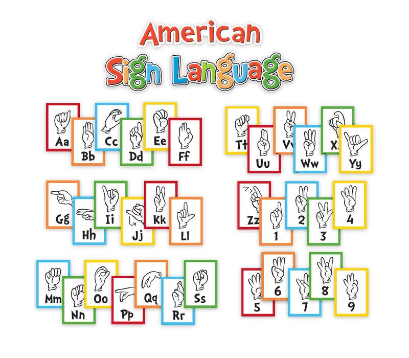 Dr. Seuss Sign Language Alphabet and Number Mini Bulletin Board Set *