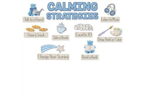 EUREKA Close-Knit Class Calming Strategies Mini Bulletin Board Set *