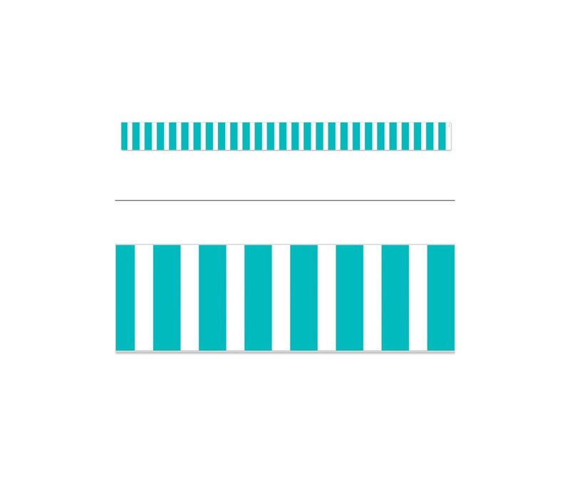 Bold Stripes Turquoise Wide Border *