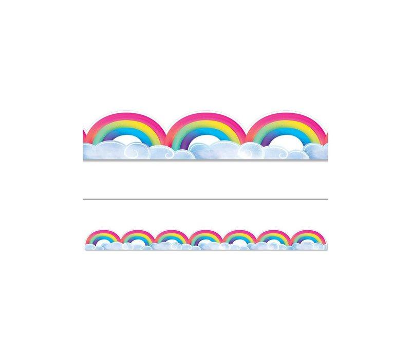 Rainbows & Clouds Border *
