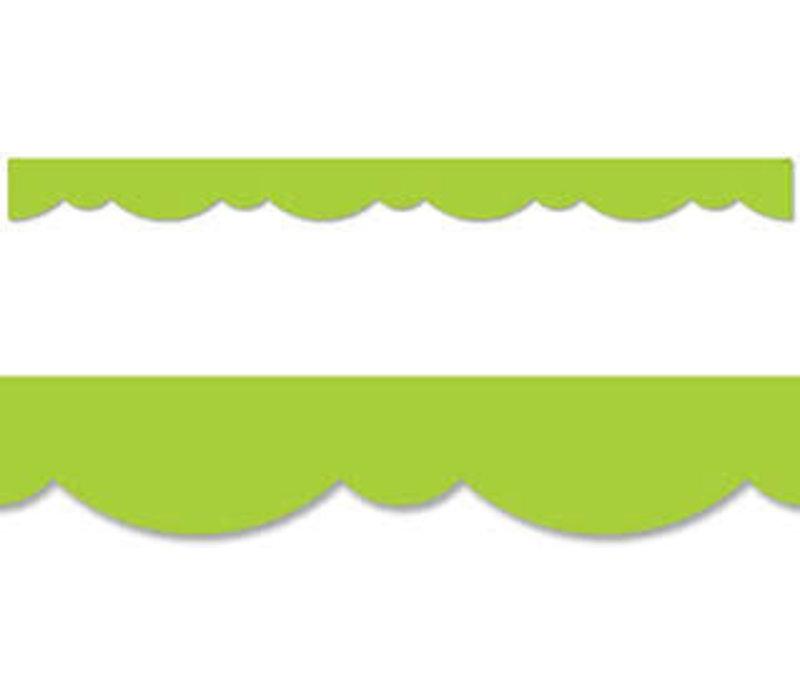 Lime Green Stylish Scallops Border *
