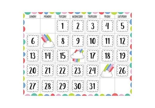 "Creative Teaching Press Rainbow Doodles Calendar Chart 17""x22"" *"