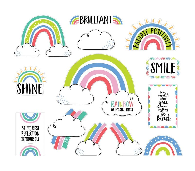 Doodly Rainbows Bulletin Board Set *