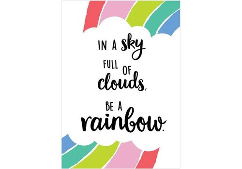 Creative Teaching Press Rainbow Doodles - In A Sky full of clouds ... .Poster *