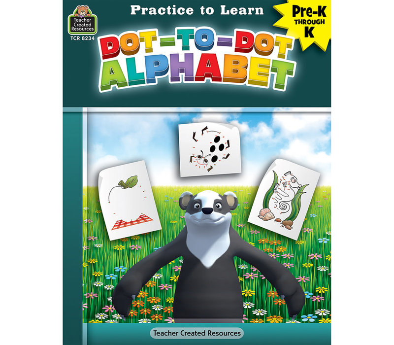 Practice to Learn - Dot to Dot Alphabet*