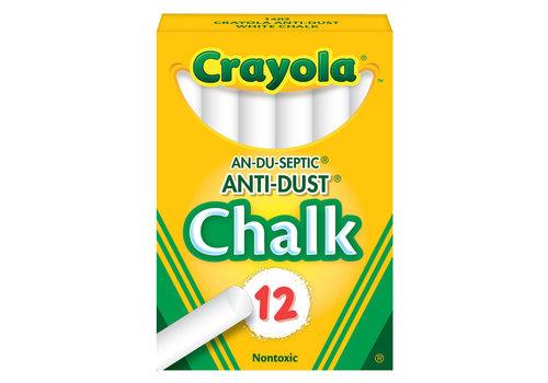 Crayola Crayola White Anti-Dust  Chalk 12 pack*