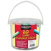 REEVES & POOLE Bucket of Jumbo Sidewalk Chalk (20 pieces) *