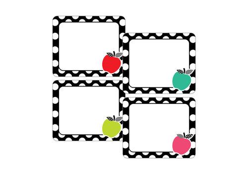 Carson Dellosa Stylish Brights Apples  Names Tags *