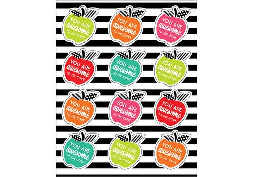 Carson Dellosa Stylish Brights Motivational Apples Shape Stickers *