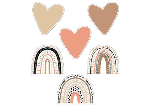 Carson Dellosa Boho Rainbows & Hearts Colorful Cutouts Assorted *