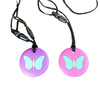 Munching Monster Chewlery Butterfly Chewable Necklace- purple*