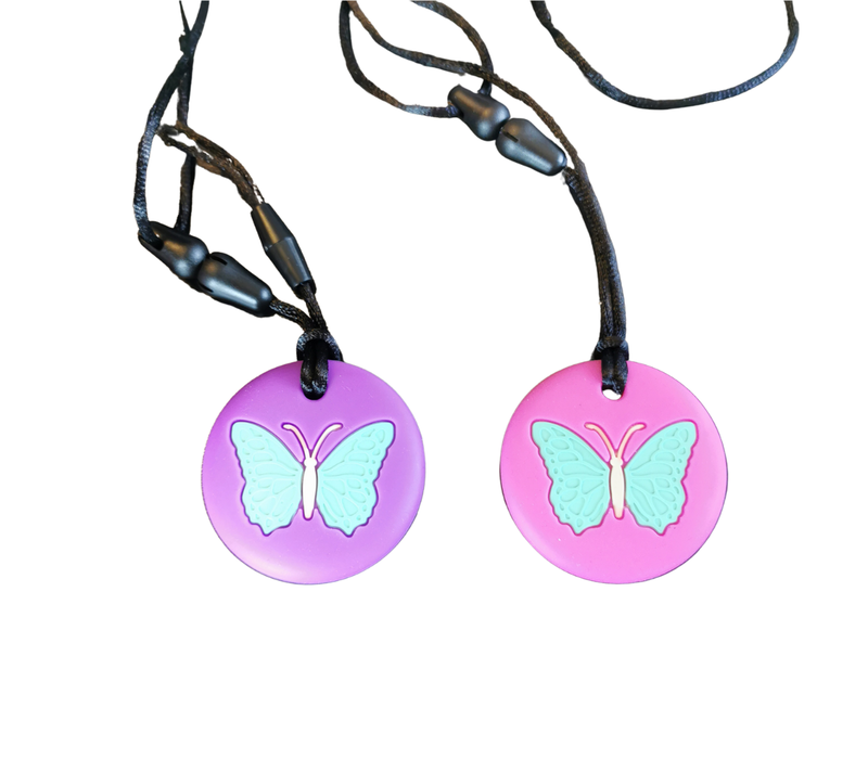 Butterfly Chewable Necklace- purple*