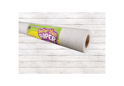 Teacher Created Resources Better than Paper - White Shiplap Bulletin Board Roll *