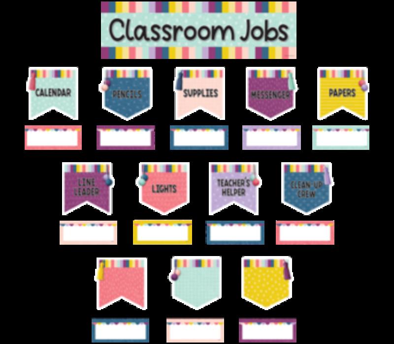 Oh Happy Day Classroom Jobs Mini Bulletin Board Set *