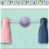Teacher Created Resources Oh Happy Day Pom-Poms and Tassels Straight Border Trim*
