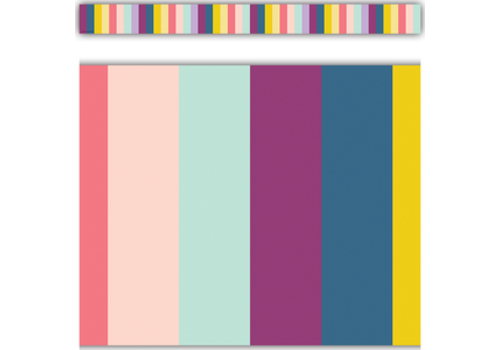 Teacher Created Resources Oh Happy Day Stripes Straight Border Trim*